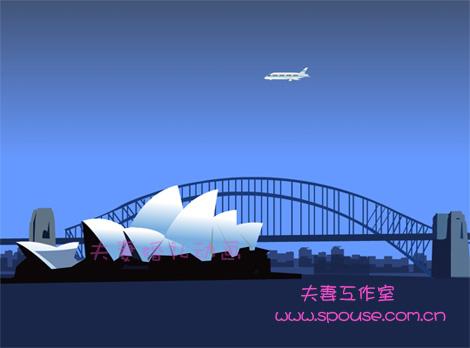 悉尼歌剧院矢量图